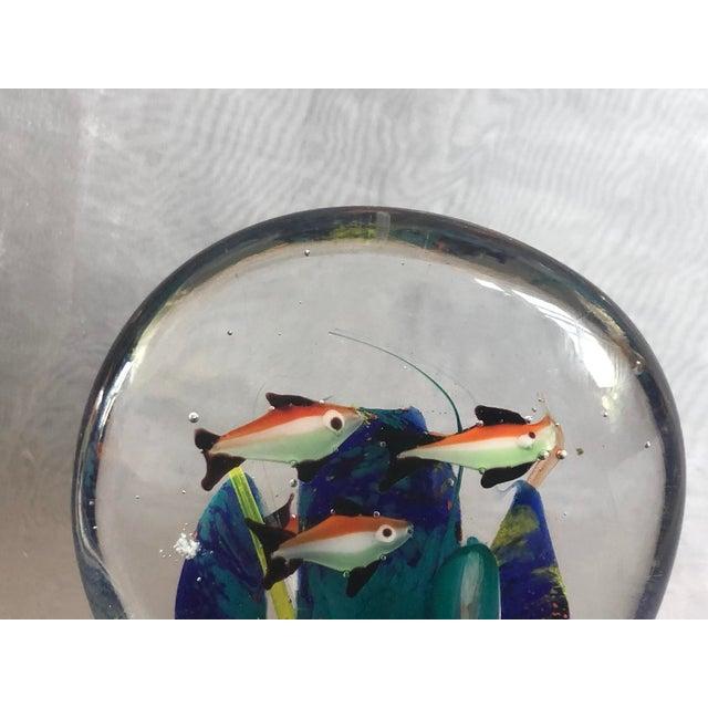 1960s Mid-Century Murano Art Glass Aquarium Sculpture For Sale - Image 5 of 12