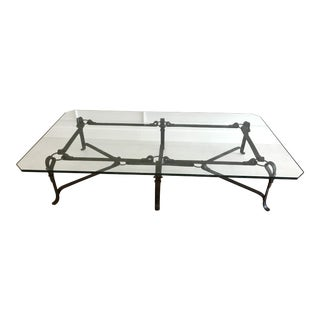 Huge Horsebit Motif Coffee Table, in the Manner of Hermes For Sale