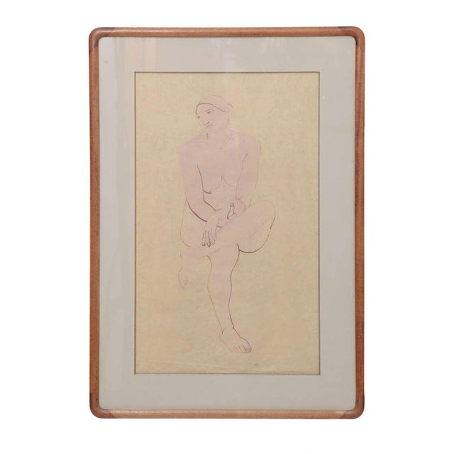 Early 20th Century Three Lovely Watercolors by Maurice Sterne For Sale - Image 5 of 10