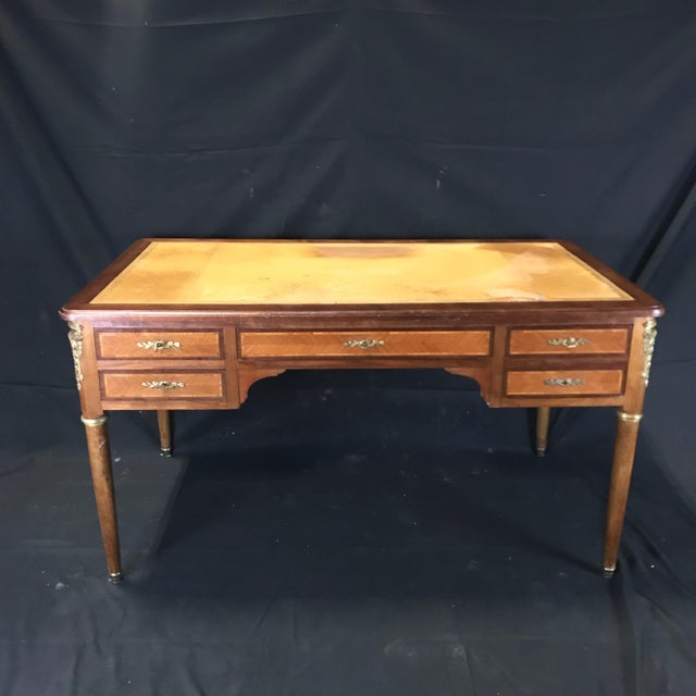 19th Century French Walnut Louis XVI Desk For Sale - Image 13 of 13