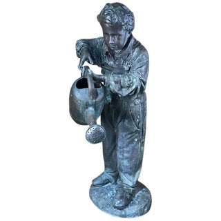Lifesize Bronze Garden Sculpture/Fountain of a Boy