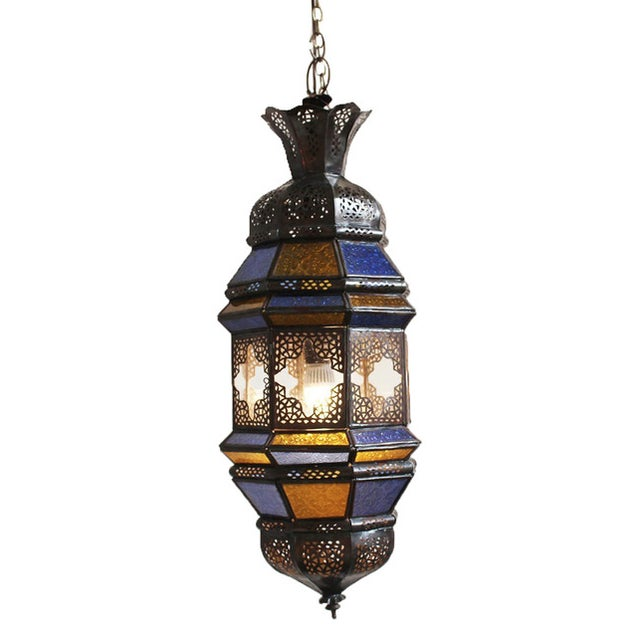 Moroccan Metal Work Lantern - Image 1 of 2