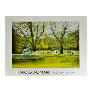Vintage Harold Altman at Le Mont Editions Lithograph Printed in France For Sale