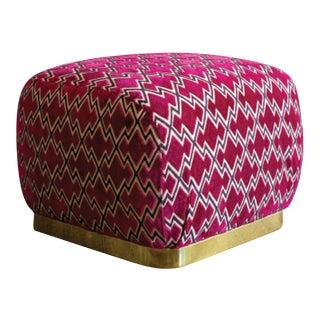 Vintage Pouf Ottoman For Sale