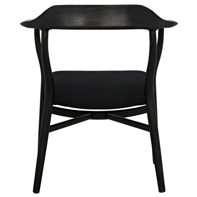 Rey Chair, Charcoal Black For Sale In Los Angeles - Image 6 of 7