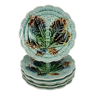 Villeroy & Boch Japonisme Chestnut Leaf Dessert Plates - Set of 6 For Sale