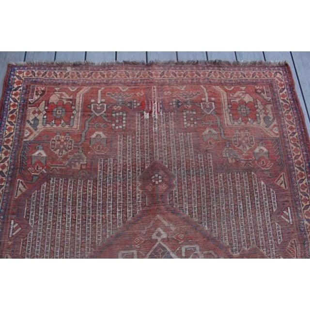 Antique Afghan Rug - 4′3″ × 5′8″ - Image 5 of 7