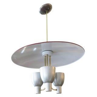 Aluminum Pendant, Style of Gerald Thurston for Lightolier For Sale