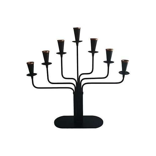 Gunnar Ander Iron Candelabra For Sale