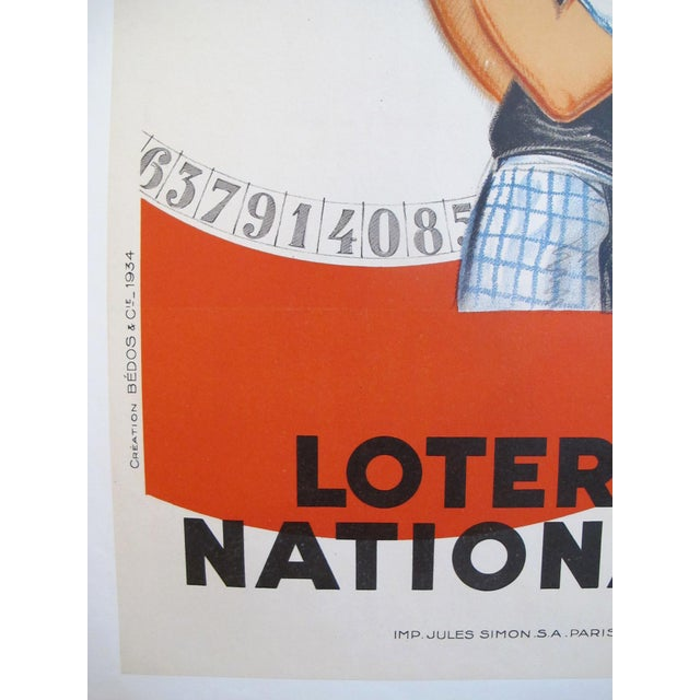 Art Deco 1925 Original French Art Deco Poster, Loterie Nationale For Sale - Image 3 of 5