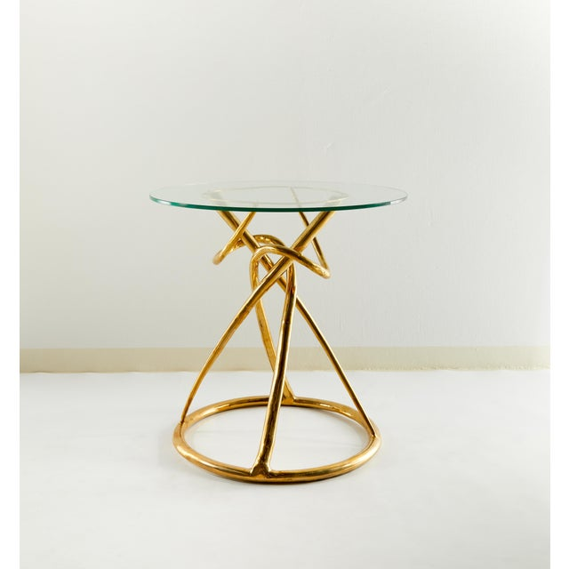 Pair of Brass Gueridon Table, Gordian Node, Misaya For Sale - Image 4 of 7