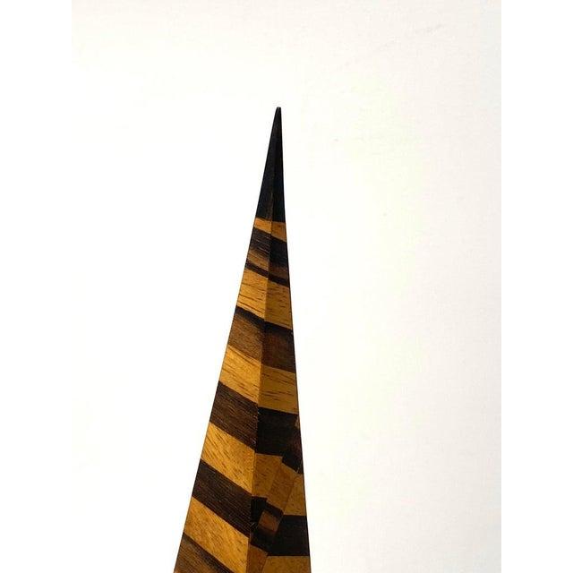 Vintage Parquetry Wood Obelisks - Set of 2 For Sale - Image 10 of 13