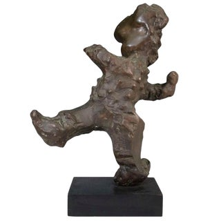 Abstract Figurative Bronze Sculpture Signed For Sale