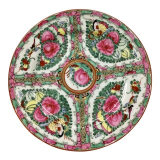 1940s Asian Hand Painted Decorative Plate