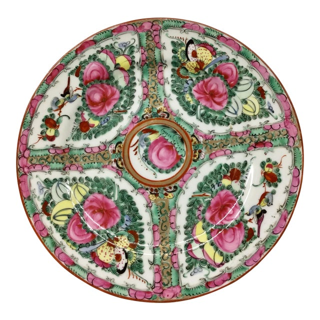 1940s Asian Hand Painted Decorative Plate For Sale