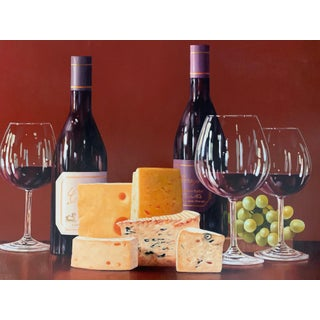 """""""Wine & Cheese"""" Oil Painting By Roberto Sala For Sale"""