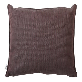 Cane-Line Link Scatter Cushion, Square, Dark Bordeaux For Sale