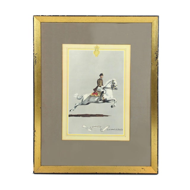 """1960s English Traditional Equestrian """"Capriole"""" Print For Sale In Los Angeles - Image 6 of 6"""