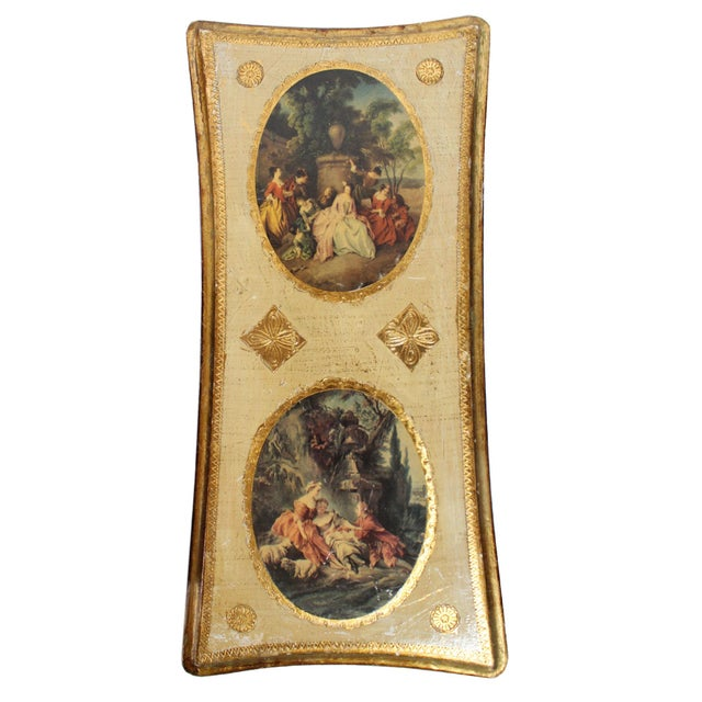 Florentine Gilt Wood Wall Art Collection, Set of 7 For Sale - Image 4 of 13