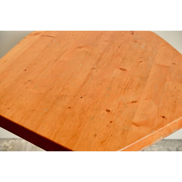 Modern Pentagonal Pine Table by Charlotte Perriand for 'Les Arcs' Ski Resort For Sale - Image 3 of 9