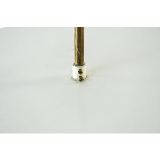 Mid Century Modern Carl Fagerlund for Orrefors Glass and Brass Pendant Light For Sale In Los Angeles - Image 6 of 8