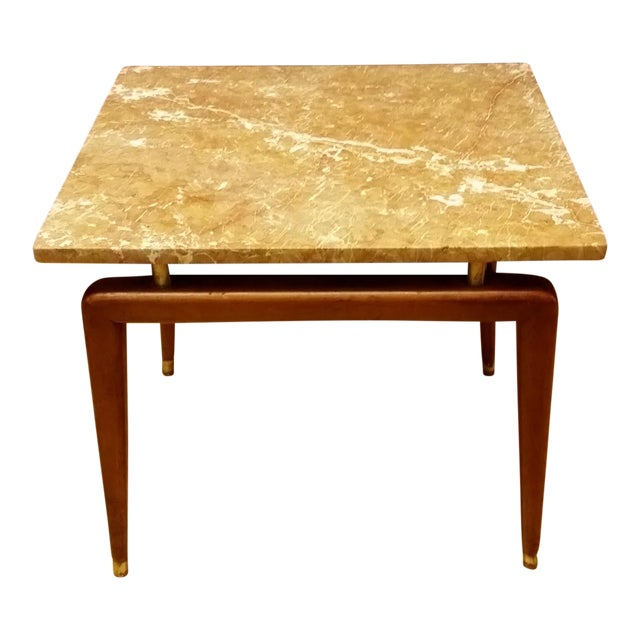 Mid Century Italian Floating Marble Top Table - Image 1 of 10