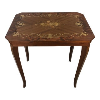 Italian Marquetry & Inlaid Wood Table
