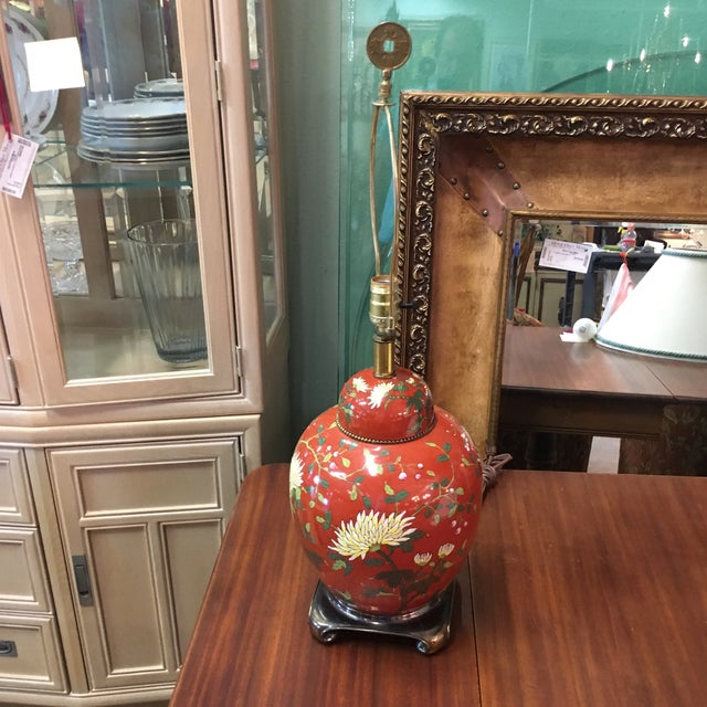 Red East Asian Style Jar Table Lamp - Image 2 of 6
