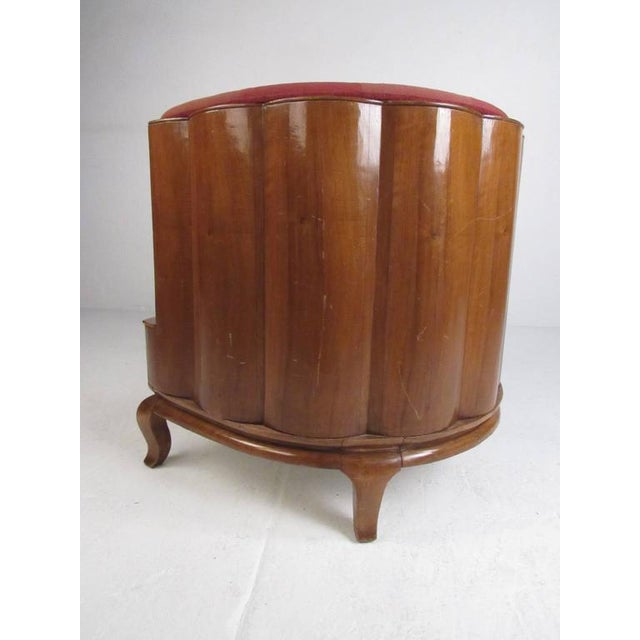 Vintage Barrel Back Italian Side Chairs - A Pair For Sale - Image 4 of 11