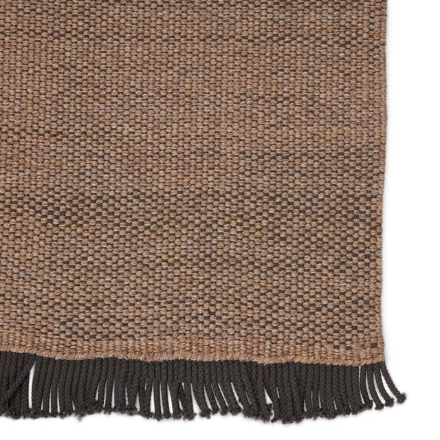 Jaipur Living Savvy Indoor Outdoor Solid Tan Black Area Rug 5'X8' For Sale - Image 4 of 6