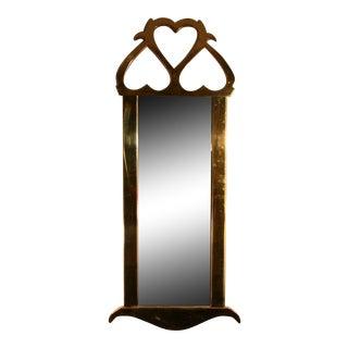 1960s Mastercraft Brass Mirror For Sale