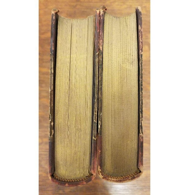 2 Matching Leather Spine Books For Sale In Milwaukee - Image 6 of 7