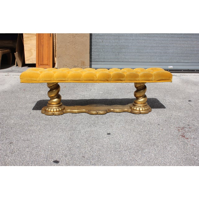 1900s Vintage French Louis XIII Barley Twist Bench For Sale - Image 12 of 13