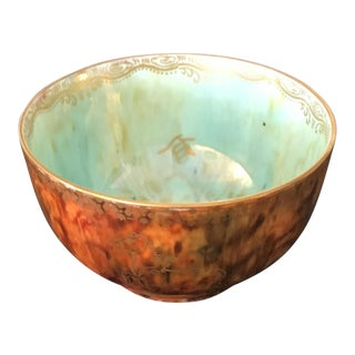 Small Luster Butterfly Bowl For Sale