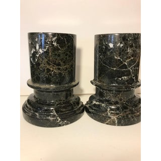 Black Marble Column Bookends - a Pair Preview