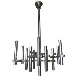 Chrome Tubular Pendant by Sciolari For Sale