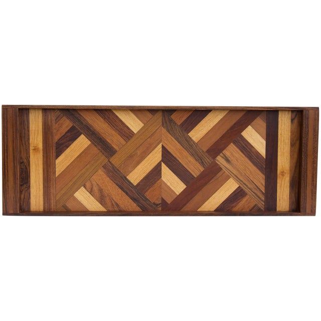 Don Shoemaker Rosewood Inlay Tray For Sale