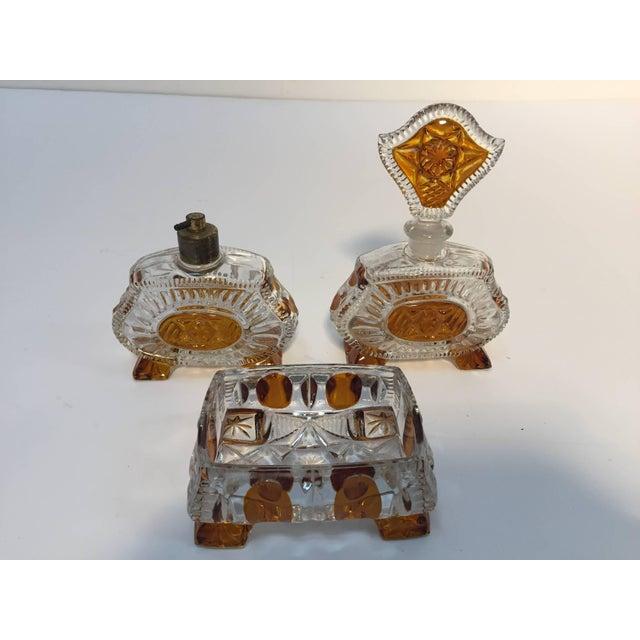 Art Deco Bohemia Karl Palda Crystal Vanity Set, 1930s For Sale - Image 10 of 10