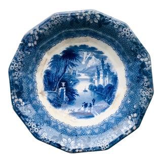Antique C & W K Harvey Delaware Pattern Blue Transferware Bowl For Sale