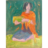 Image of Victor DI Gesu Young Woman Holding a Bowl For Sale