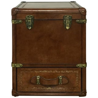 Antique Leather Storage Box
