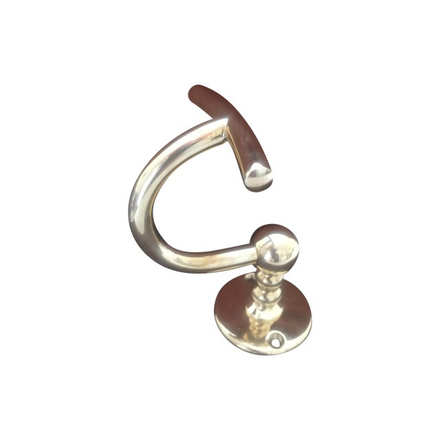 "Waterworks ""Etoile"" Unlacquered Brass Single Hook - Image 1 of 11"
