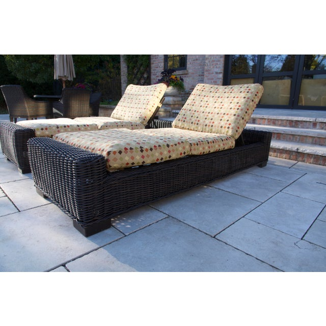 RUSTIC WOVEN CHAISE LOUNGE-Black Walnut Sturdy, timeless, and built for year-round living, the Rustic Chaise Lounge brings...