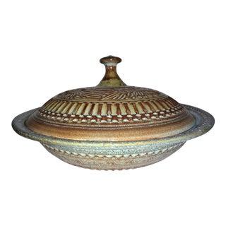 Vintage Dryden Ozark Pottery Casserole & Lid