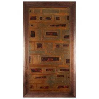 Mid 19th Century Vintage Brown Panel For Sale