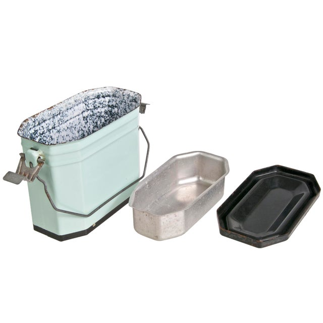 Vintage French Enamel Lunch Pail - Image 4 of 4