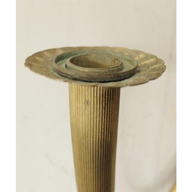 French Pair of Brass Wall Sconces For Sale - Image 3 of 7