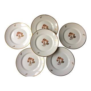 Antique 1960s Royal Copenhagen Porcelain Plates - Set of 6 For Sale
