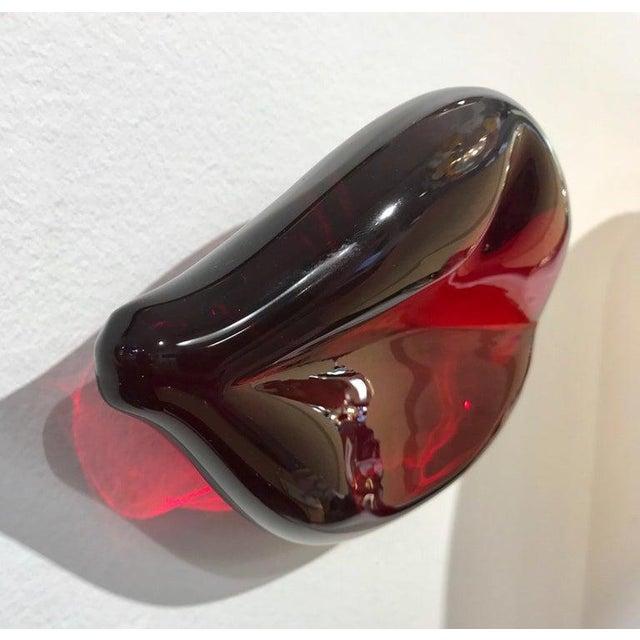 Contemporary Italian Blown Murano Glass Red Lips Decorative Art Sculpture For Sale - Image 11 of 12
