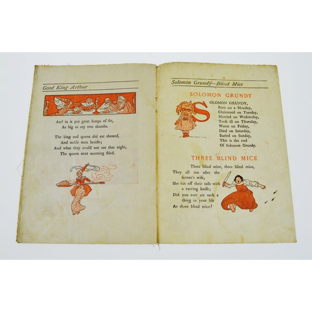 "Blue McLoughlin Bros. ""Jack and Jill"" Children's Linen Book For Sale - Image 8 of 13"